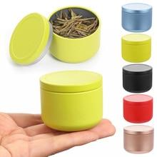 Small Jar Tin-Organizer Sealed-Cans Tea-Coffee-Container Flower Metal Mini Travel Boxex