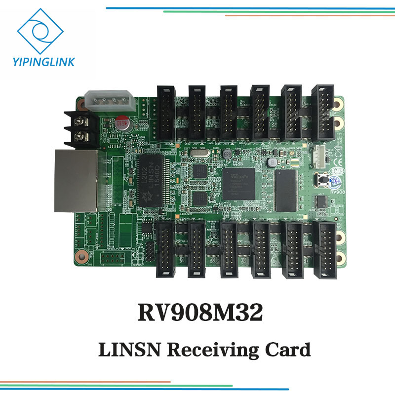 LINSN Receiving Card RV908M32 For Full Color LED Screen Display Support 32 Scans