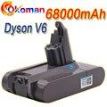 Литий-ионный аккумулятор 68000 мАч 21,6 в 965874 Ач для пылесоса Dyson V6 DC58 DC59 DC61 DC62 DC74 SV09 SV07 SV03-02