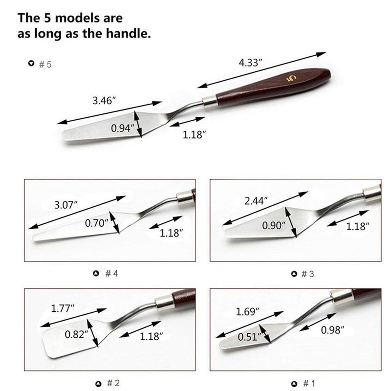 15 pces pincel pincel paleta faca conjunto 04