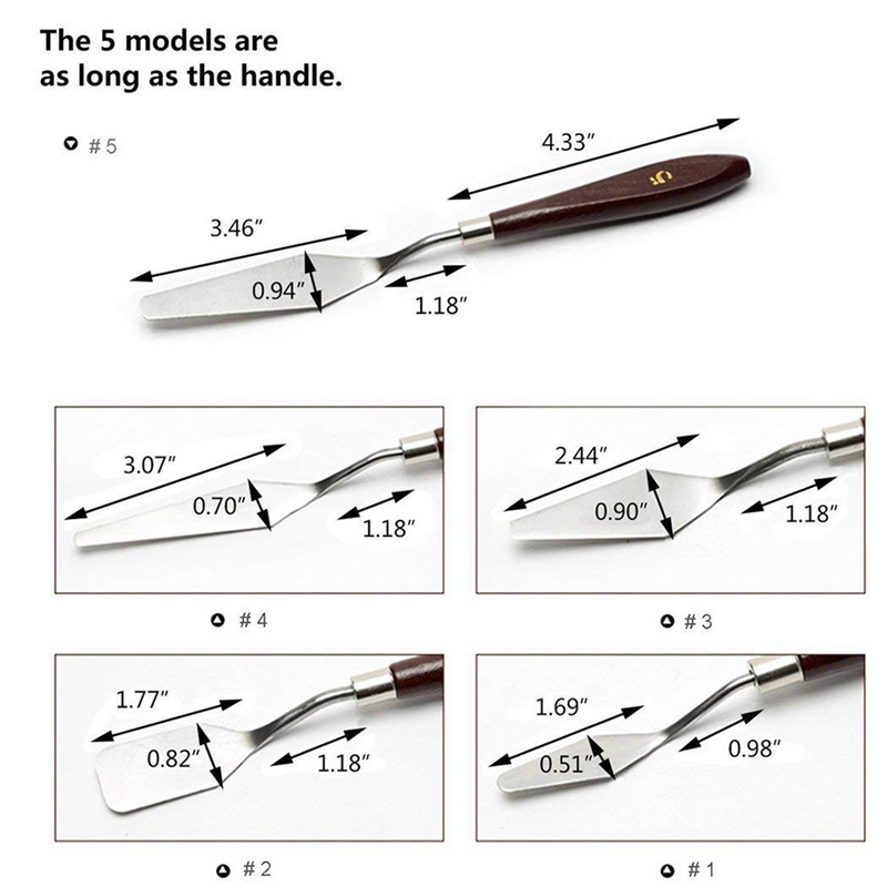 15 pces pincel pincel paleta faca conjunto