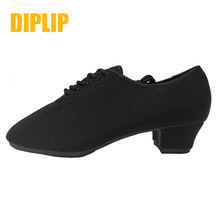 DIPLIP New Latin Dance ShoesTango Salsa Girls Woman Adult Modern Ballroom Shoes Teacher 3.5/5cm Oxford Sneakers