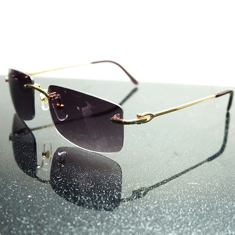 Sunglasses Men Luxury Brand Designer Sunglasses Carter Women 2019 High Quality Rimless Metal Frame Fill Prescription Sunglass|Men's Sunglasses| |  - title=