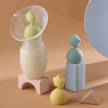 Manual Breast Pump Partner Silicone Cute Star Shape Baby Breast Milk Breast Pumps Stopper Leak-Proof Cover Lid