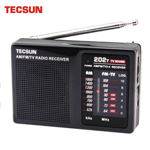 Original Tecsun Brand Tescun R 202T Radio FM MW TV Radio Mini Radio VS Tecsun  DE13 radio