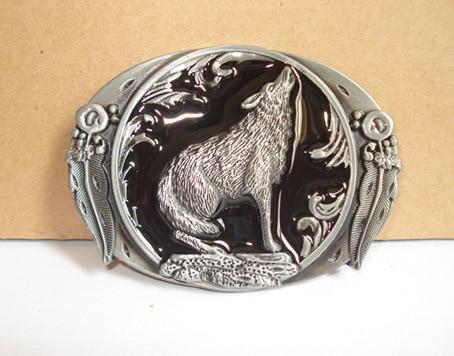 Leather Belt Wolf Totem Strap Male Leather Pin Buckle Metal Belt Werewolf Head Male Casual Belt Buckle