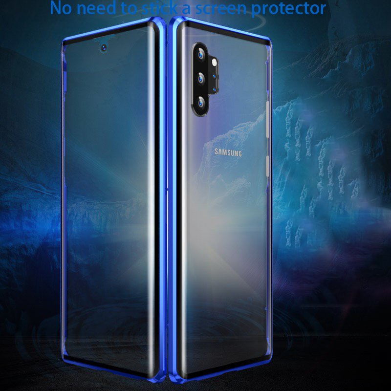 360 Magnetic Metal Case For Samsung Galaxy Note 10 Plus A50 A51 A70 A71 A10 A30 A90 A20 E S10 Lite Case Cover Phone Cases Coque