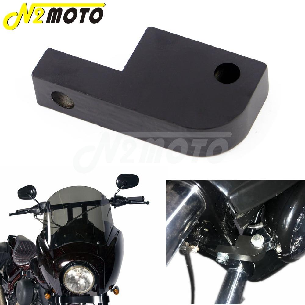 For Dyna FXD Headlight Fairing Headlight Extension Block For Harley 39mm-49mm Fork Headlamp Relocation Bracket