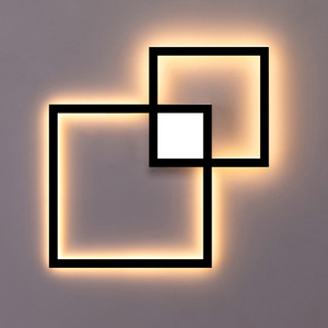 Image 4 - Zerouno Decorative modern LED Wall Lamp DIY background light indoor for home interior TV Wall Lights lounge living Room bedroom