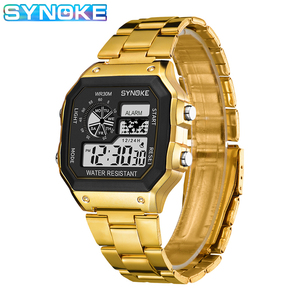 Gold Silver Digital Watch Men Shock Military Waterproof Strap Sports & Leisure Watches Luminous Alarm Clock relogios digitais
