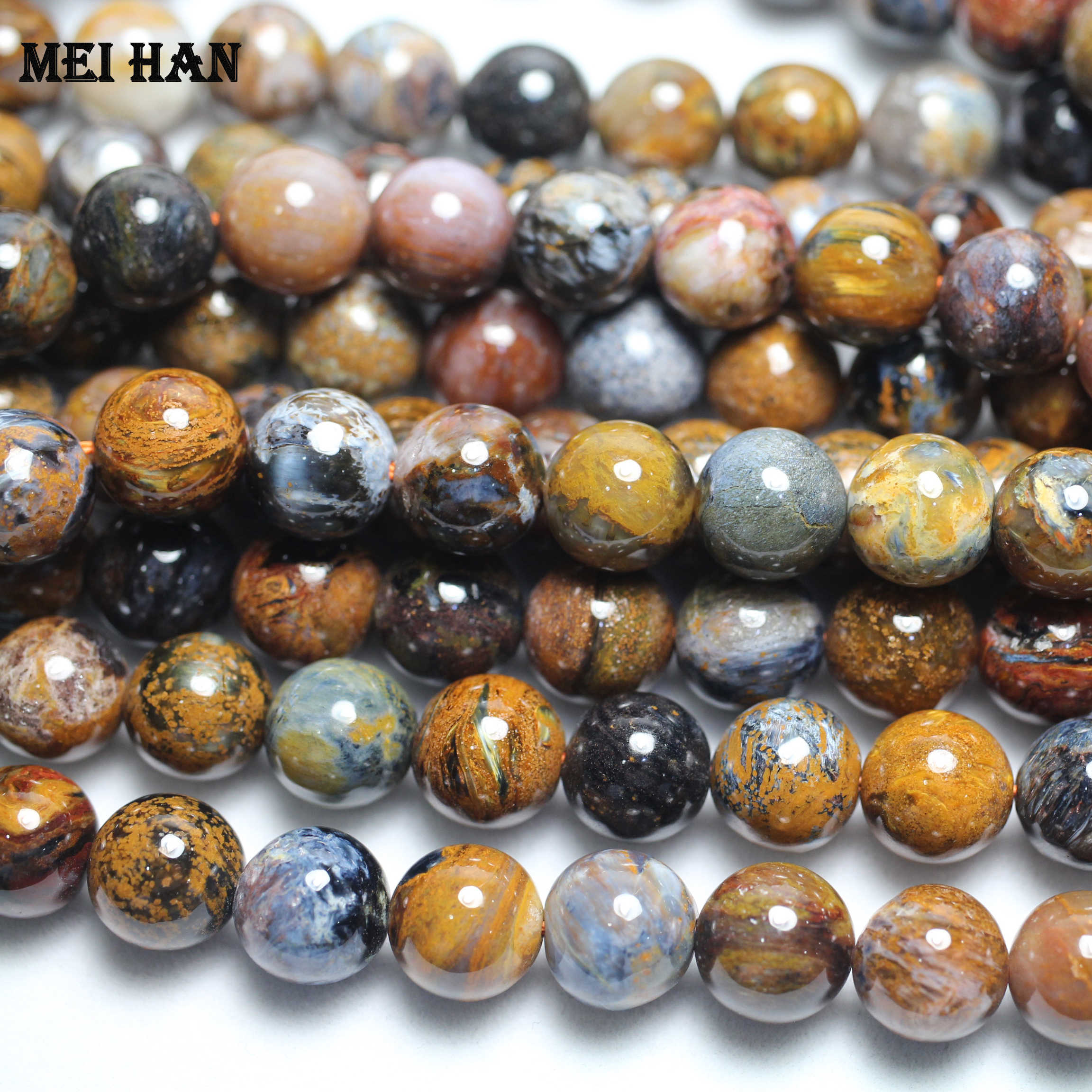Wholesale 1 Strand A Natural 10 10 8mm Namibia Pietersite Smooth Round Rare Beads Stone For Jewelry Making Diy Design Beads Stone Stones For Jewelrystones For Jewelry Making Aliexpress