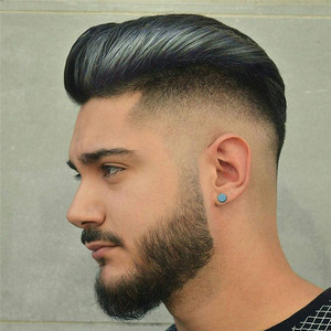 Image 1 - Peluquín de pelo PU para hombres con pelucas de cordones franceses para hombres europeos Remy sistemas de repuesto de cabello humano horquilla 10x8 pulgadas