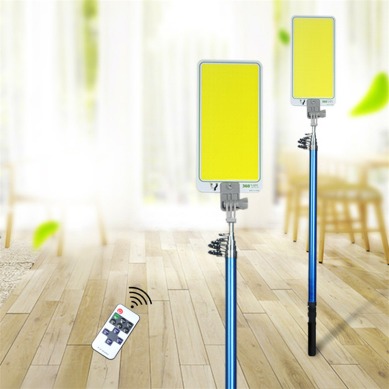 Household Portable Emergency Work Lamp 47W LED Spotlight Versatility Rechargeable Ip65 Outdoors Road Travel 4.5m Telescopic Rod