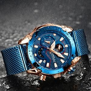 Image 3 - Мужские часы CRRJU, роскошные брендовые армейские военные часы, высокое качество, 316L, нержавеющая сталь, хронограф, часы Relogio Masculino 2020