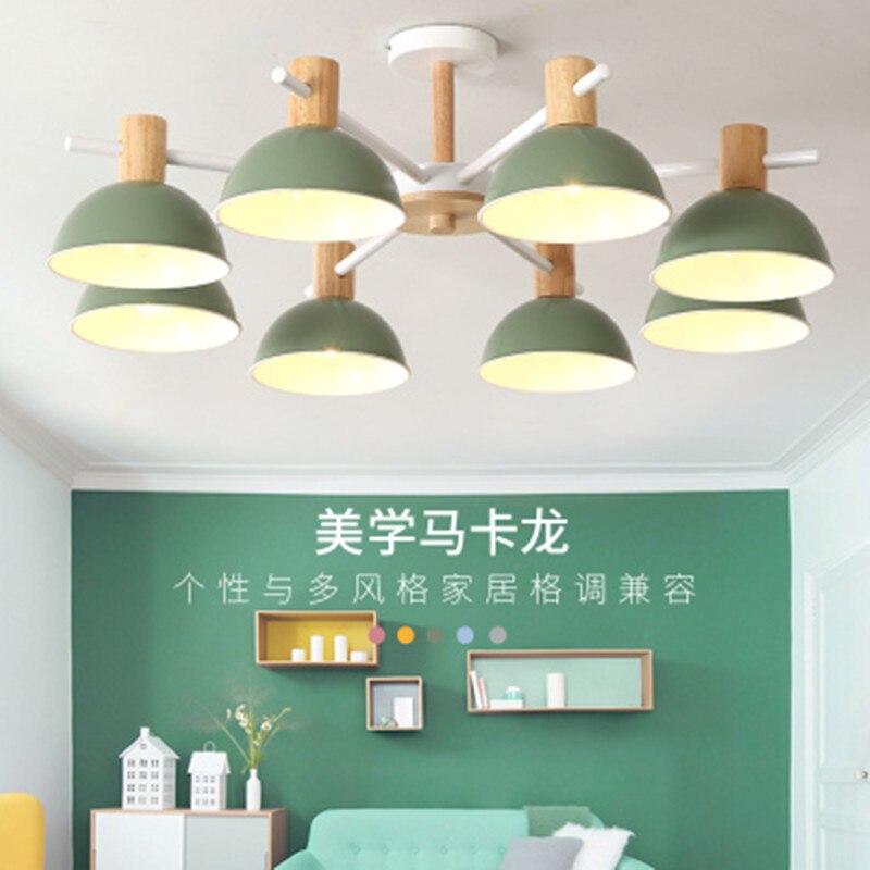 木製のシャンデリア寝室鉄色ランプシェード led シャンデリア照明 lustres パラサラデ jantar ホームランプ