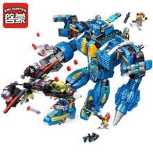 Enlighten Building Block High-Tech Era Garma Mecha Man 7 Figures 1351pcs Educational Technic Bricks Toy For Boy Legoingly Gift