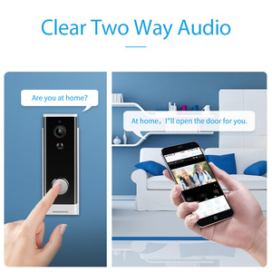 Image 3 - 1080P Mini Doorbell Camera Wireless Smart Video Ip Camera WiFi Video Intercom 2.0MP Battery powered Camera APP Control Door Bell