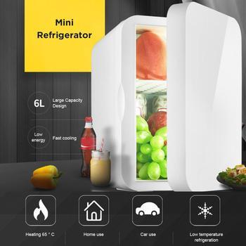 Mini refrigerador pequeño de 12V para coche, refrigerador de 220V para una sola Puerta, Mini refrigerador termoeléctrico de doble uso, refrigerador y calentador