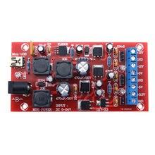Diy Usb 5-24V повышающий одиночный Поворот двойной модуль питания линейный регулятор несколько выходов комплект питания