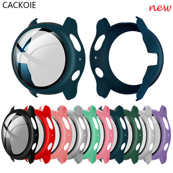 PC + tempered glass band case for Samsung Galaxy Watch Active 2 40mm 44mm integrated watch all-inclusive screen protector - discount item  60% OFF Watches Accessories
