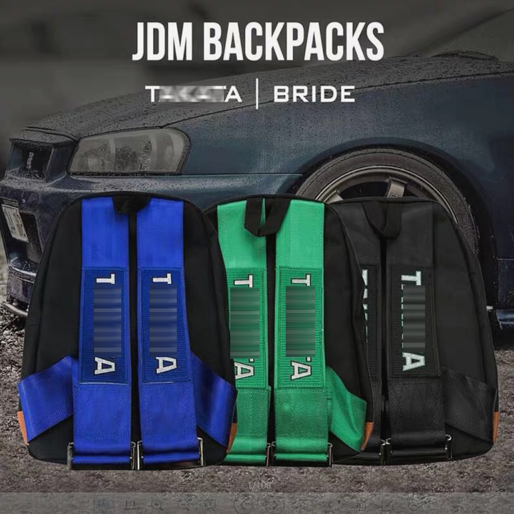 For JDM Style Racing Fabric Straps Style For TAKATA Backpack Car Canvasсетка в багажник Racing Bride Bag For Takata Backpack