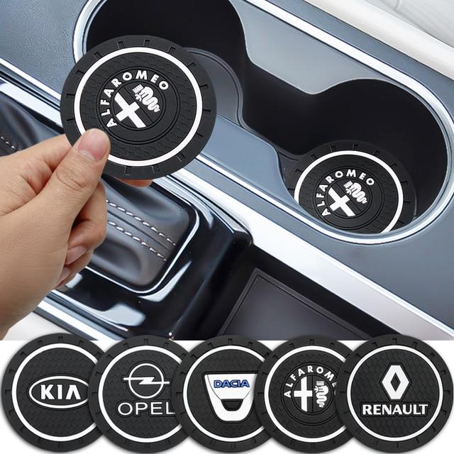 سيارة التصميم البلاستيكية سيارة عدم الانزلاق كوستر حصيرة الحال بالنسبة لسيارات BMW أودي تويوتا هوندا أوبل رينو سوزوكي مرسيدس بيجو هيونداي كيا VW فيات