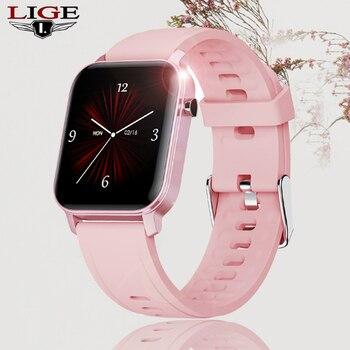 LIGE 2020 New Smart Watch Women Heart Rate Blood Pressure Monitor fitness tracker Bracelet Sport pedometer Smartband