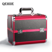 Portable Professional Cosmetic Bag Suitcases For Cosmetics Large Capacity Women