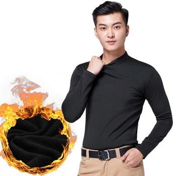 2020 jesień zima odzież sportowa męskie koszule golfowe Golf odzież koszulka z długim rękawem utrzymać ciepły polar odzież sportowa odbija się od dna tanie i dobre opinie Pełna COTTON spandex Pasuje prawda na wymiar weź swój normalny rozmiar Anty-pilling Wiatroszczelna TT0075