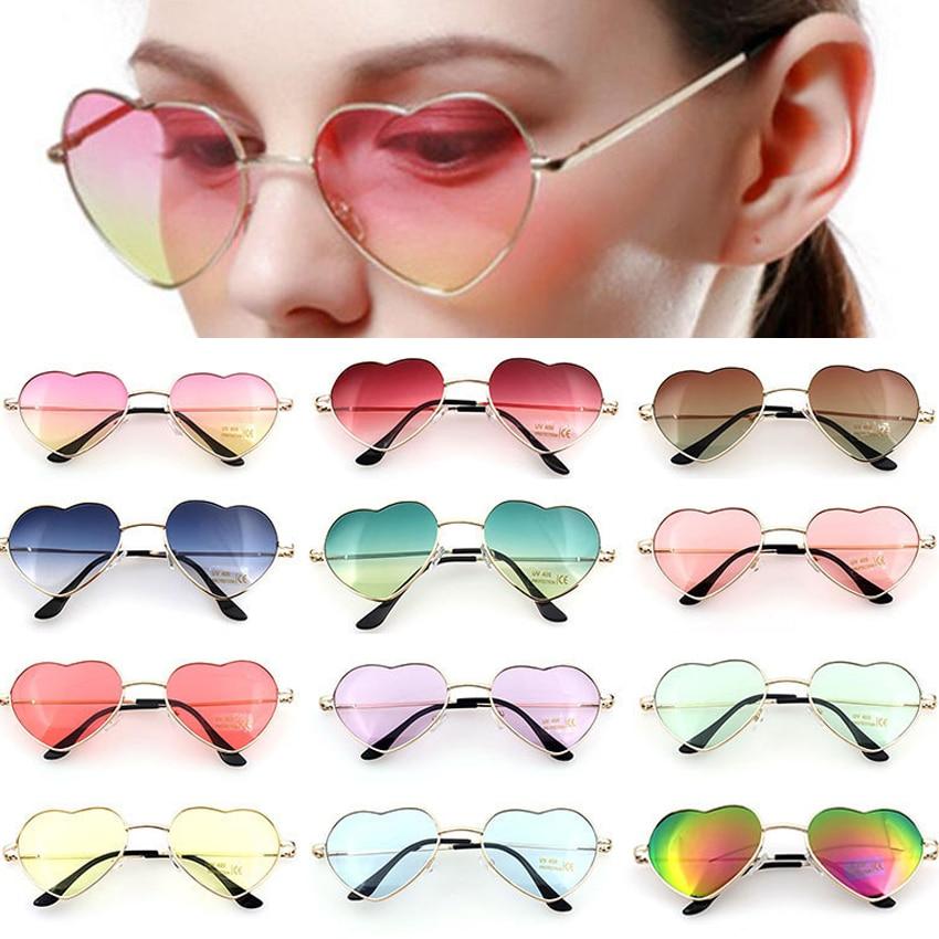 FOENIXSONG Sunglasses Women New Style Hearts Frame Mirror Oversized Sun Glasses Brand UV400 Oculos Vintage Eyewear Retro