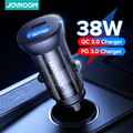 Joyroom 38W Car Charger Mini USB Fast Charger With QC 3.0 PD3.0 Quick Charge Type C PD Charger For iPhone 12 Huawei Redmi