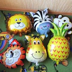 Image 4 - WEIGAO 정글 동물 생일 파티 일회용 식기 숲 친구 사파리 동물원 테마 종이 컵 플레이트 베이비 샤워 용품