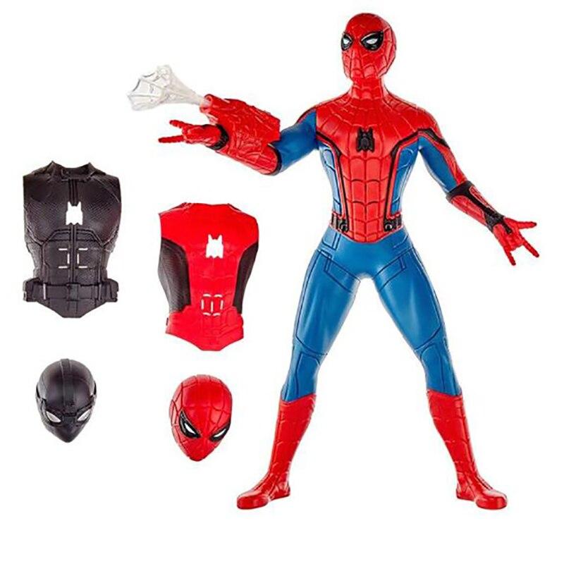 33cm Marvel zabawki elektroniczne Avengers Spider man daleko od domu pcv figurka 3 w 1Web biegów Spiderman kolekcjonerska Model lalki w Figurki i postaci od Zabawki i hobby na  Grupa 2
