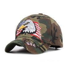 цена на American Flag Hawk Embroidered Camouflage Usa Baseball Cap Leisure Duck Tongue Sunshade Tactical Jungle