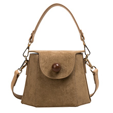 new Small retro flip Crossbody Bags for Women 2019 Solid Scrub Pu Leather Luxury Handbags Women Bags Designer Shoulder Bag Khaki luxury handbags women bags designer a new style casual and fashionable cross body bag with retro pu flip shoulder bag for women