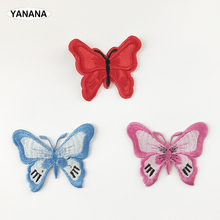 Beautiful Butterfly Patch Embroidered Patches For Clothing Iron On Shoes Bags Embroidery