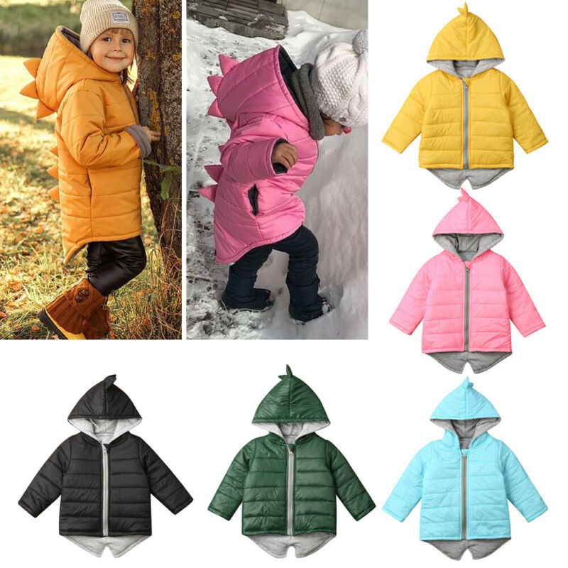 Big Sale³Outwear Overcoat Dinosaur Jacket Waistcoat Baby-Girl Winter Boy Infant Thick Hooded ZipperÌ