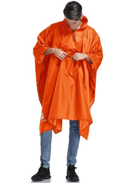 Hooded rain poncho waterproof rain