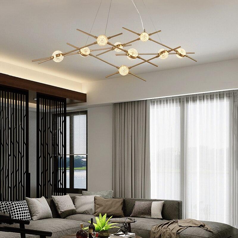 Oro semplice led lampadario soggiorno camera neutro bianco freddo ha condotto la lampada a sospensione moderna cucina apparecchio di illuminazione sala da pranzo apparecchi di illuminazione - 5