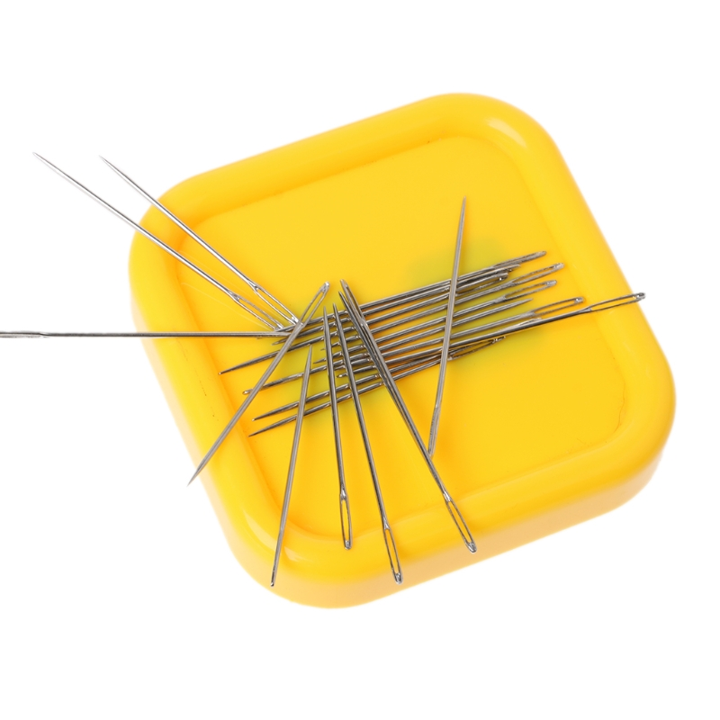 Magnetic Box Sewing Needles Storage Pins Case For Needlework DIY Cross Stitch D2TD