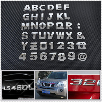 Car auto DIY Letter Alphabet number Stickers Logo for BMW 530Li 335i 750i 330i 325i 320si 630i X6 M6 640i 640d image
