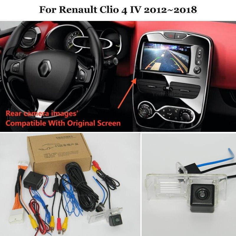 Caméra de vue arrière à 24 broches   Pour Renault Clio 4 IV 2012 ~ 2018, connexion de l'écran Original d'usine de sauvegarde pour Parking