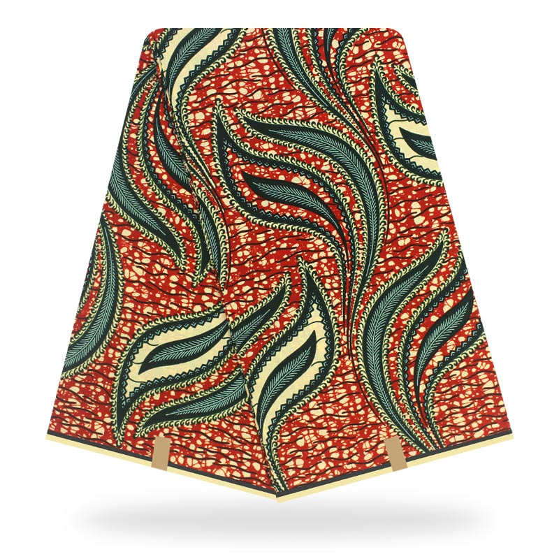 African Real Wax Fabric 6yard Pagne Wax Tissus African Ankara Fabrics Real Wax 100% Cotton Sewing Material For Dress