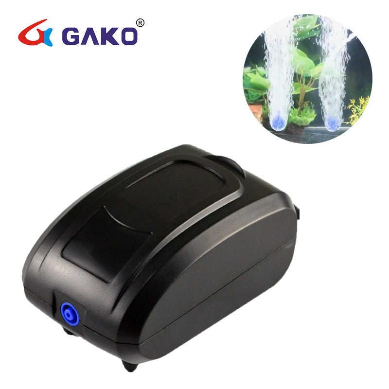 Gako حوض السمك مضخة هواء صغير صامت ضاغط واحد مزدوج منفذ الأكسجين مضخات لأحواض السمك خزان الأسماك المائية