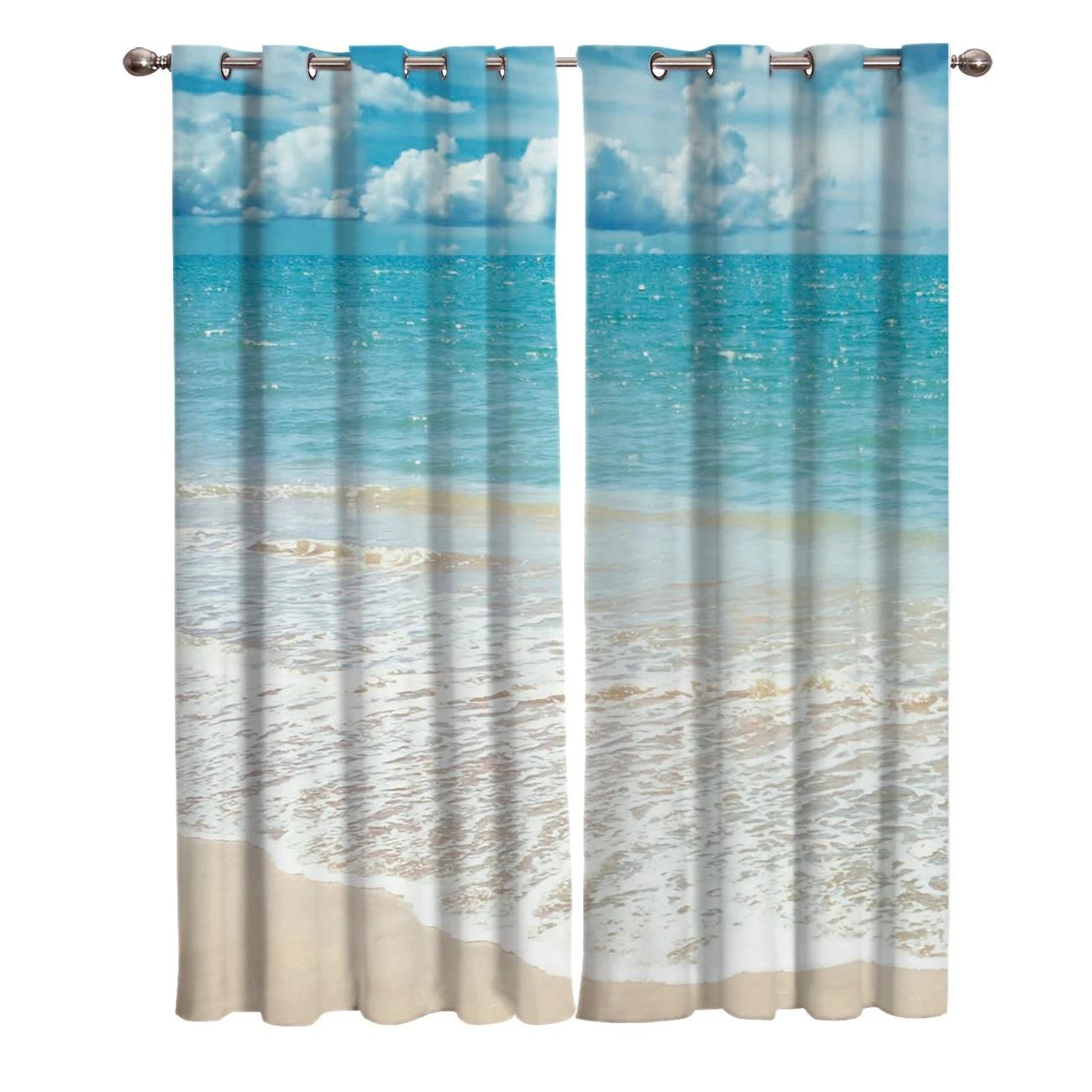 beach sky sea window treatments curtains valance window curtains living room curtain rod kitchen indoor decor kids room curtain