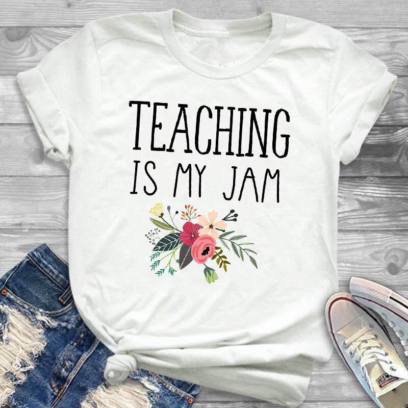Футболка женская с коротким рукавом и графическим принтом, модная смешная рубашка с надписью учителя, летний топ с принтом