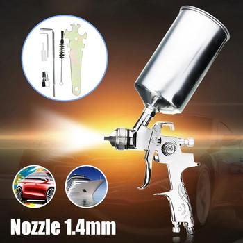 цена на Professional Spray Gun For Painting Cars 1.4mm Nozzle 1000ML Gravity HVLP Spray Paint Gun Airbrush Pistols Aerografo