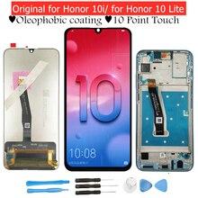 Dla Huawei Honor 10 Lite/ Honor 10i wyświetlacz LCD Digitizer zgromadzenie ekran dotykowy wyświetlacz LCD ekran dotykowy Honor 10 Lite naprawa część