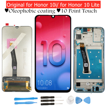 Huawei onur 10 Lite/onur 10i LCD ekran Digitizer meclisi dokunmatik ekran LCD ekran dokunmatik onur 10 Lite onarım bölümü