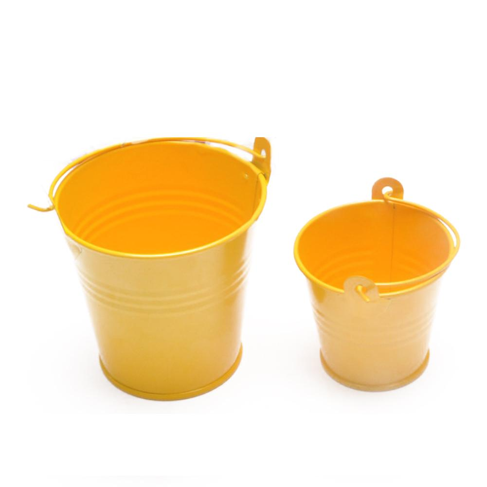Small Metal Buckets Tinplate Mini Bucket Flower Pots Home Decoration Iron Planters Wedding Party Planters Flower Pot Decor